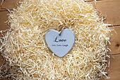 wooden Live, love and laugh heart