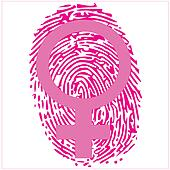 thumbprint and female sign