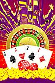 Abstract casino illustration
