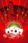 Abstract gambling design