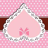 Lace pink heart