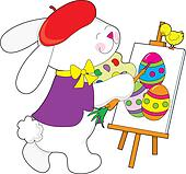 Bunny Painting Egg