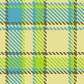 Seamless checkered green blue brown pattern