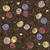 seamless floral dark background
