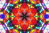 stained-glass design