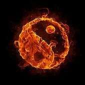 burning ying yang