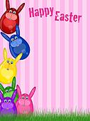 Happy Easter Bunny Background