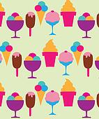 colorful background of different ice-creams