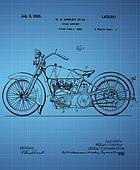 Harley Davidson Motorcycle Patent 1925