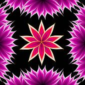 abstract applique flower