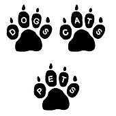 Paws and text
