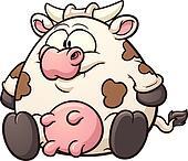 Fat cartoon cow