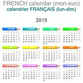 2015 Crayons Calendar French Version