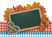 Oktoberfest Blackboard Pretzel