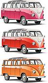 old-fashioned european van