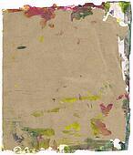 Beautiful yellow, green and magenta paint splatters