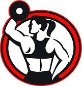 Female Lifting Dumbell Fitness Side Circle