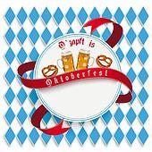 Munich Oktoberfest White Round Emblem