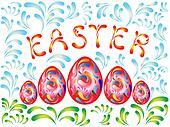Golden Easter background