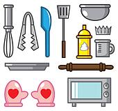 cartoon baking tool icon