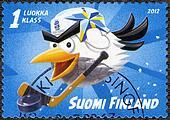 FINLAND - 2012: shows Hockey Bird, devoted 2012 Ice Hockey World