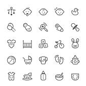 Outline stroke Baby icon