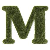 grass font - letter m