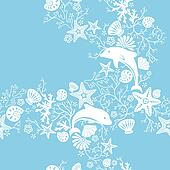 Floral and Dolphin Pattern