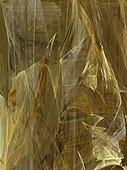 Gold Grunge Random Fractal Pattern