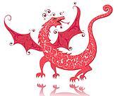 dragon red vintage