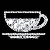 drink icon on black background with high quality