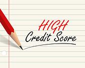 Pencil paper - high credit score