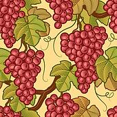 Seamless grapes background