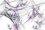 Gray & Lavender Fractal Spider Web