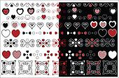 Valentine Designs With Gingham Trim