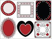 Valentine Frame of Tags With Gingha