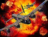 Lancaster bomber bombing run