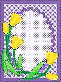 Vector Oval Border With Flowers