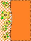 Jpg Orange Border of Gingham, Flowe