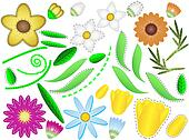 Jpg Flowers and Leaves to Design