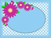 Jpg Oval Blue Copy Space, Zinnias