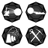 Badges coal industry-1