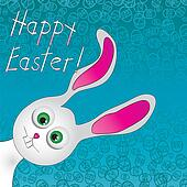 Cute Easter Bunny. Use to create fun Easter projects. Vector illustration
