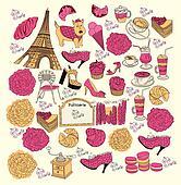 Vector Collection symbols of Paris