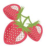 Strawberries Clip Art - Royalty Free - GoGraph
