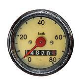 Isolated Vintage Speedometer