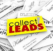 Collect Leads Business Cards New Customer Prospects Names