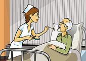 Nurse and hospital