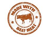 made with beef meat stamp