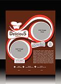 Bakery Shop Flyer Design Vector